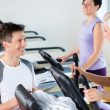 Royalty-Free Stock Photo: Fitness young on treadmill cardio workout