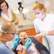 Little patient at the dentist — Stock Photo