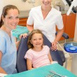 Dental team in stomatology clinic with child — Stock Photo