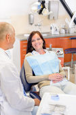 Woman at dentist surgery — Stock Photo