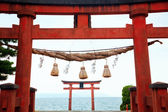 Temple Gate on the Lake Biwa — Stock Photo