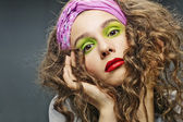 Alluring woman model with luxury fashion make-up — Stock Photo