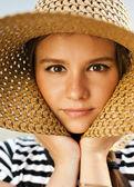 Woman wearing hat — Stock Photo