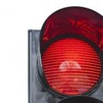 Traffic light signal shows red light — Stock Photo