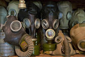 Used gas mask stored in museum — Stock Photo