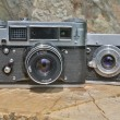 Two previously used cameras are in shape — Stock Photo #11913064