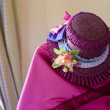 Стоковое фото: Interesting previous century pink dress and hat