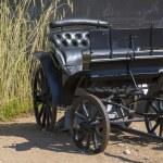 Black wagon without horses is abandoned — Stock Photo #12147761