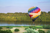 Painted in colours balloon fly — Stock Photo