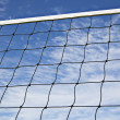 Volleyball net is strained tightly for game — Stock Photo #12365979