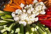 Diversi tipi di verdure giaceva sul piatto — Foto Stock