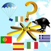 Будущее Европы и евро — Стоковое фото