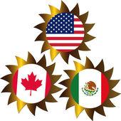 NAFTA concept — Stock Photo