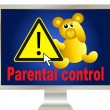Keep your kids safe online - Stock Photo