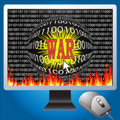 Cyber war — Stock Photo