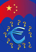 Will or can China save Europe and the Euro? — Stock Photo