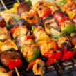 Stock Photo: BBQ barbecuing skewers kebab