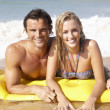 Young couple on beach holiday — Stock Photo #11878733