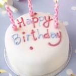 A birthday cake — Stock Photo