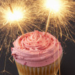 A cupcake with sparklers — Stock Photo #11878909