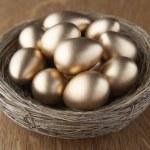 A basket of golden eggs — Stock Photo #11878935
