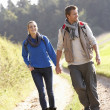 Young couple walking in park — Stock Photo #11879198