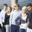 Group Of Teenagers Hanging Out Together Outside — Stock Photo #11880157