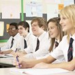 Teenage Students Studying In Classroom — Stockfoto #11880167