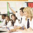 Teenage Student Answering Question Studying In Classroom — Stock Photo #11880192