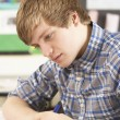 Stock Photo: Male Teenage Student Studying In Classroom