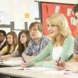 Stock Photo: Teenage Students Studying In Classroom