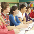 Teenage Students Studying In Classroom — Stock Photo #11880321
