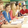 Teenage Students Studying In Classroom — Stock Photo #11880325