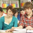 Teenage Students Studying In Classroom — Stock Photo #11880338