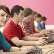Teenage Students In IT Class Using Computers In Classroom — Stock Photo #11880398