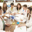 Group Of Teenage Students In Science Class With Tutor — Stock Photo #11880484