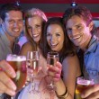 Group Of Young Having Fun In Busy Bar — Stock Photo #11880893