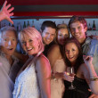 Group Of Having Fun In Busy Bar — Stock Photo #11880938