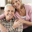 Happy Senior Couple Relaxing At Home — Stock Photo #11880960