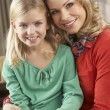 Portrait Of Happy Daughter With Mother — Stock Photo