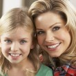 Stock Photo: Portrait Of Happy Daughter With Mother