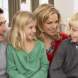 Portrait Of Happy Family At Home — Stockfoto