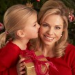 Stock Photo: Daughter Giving Mother Christmas Gift