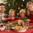Family Enjoying Christmas Meal At Home — Stock Photo #11881045