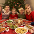 Three Generation Family Enjoying Christmas Meal At Home — Stock Photo #11881047