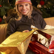 Frau nach Christmas-shopping-Tour — Stockfoto #11881104