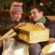Couple Returning After Christmas Shopping Trip — Foto de Stock