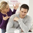 Couple Having Argument At Home — Stock Photo #11881189
