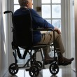Stock Photo: Disabled Senior MSitting In Wheelchair