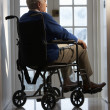 Disabled Senior Man Sitting In Wheelchair — Stock Photo